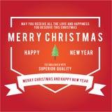 Weihnachtsaufkleber-und -ausweis-Vektor-Design Dekorationselemente Stockbild