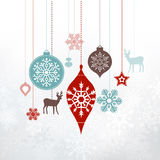 Weihnachtsaufkleber - Verzierungen, Dekorationen Stockbild