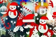 Weihnachtsaufkleberdekoration Stockbild