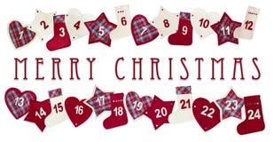 Weihnachtsaufkommenkarte Lizenzfreies Stockbild