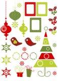 Weihnachtsauslegung-Elemente Stockbilder