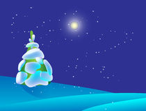 Weihnachtsauslegung mit Bäumen Lizenzfreies Stockfoto