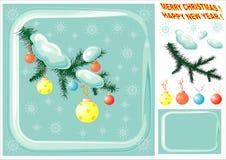Weihnachtsauslegungelemente. Stockfotos