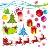 Weihnachtsauslegungelemente Stockfoto