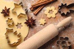 Weihnachtsbäckerei Lizenzfreies Stockfoto