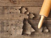 Weihnachtsbäckereihintergrund Stockbilder