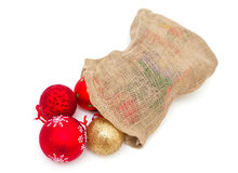 Weihnachtsbälle stockbilder