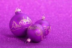 Weihnachtsbälle Stockfotos