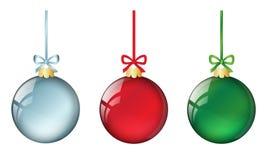 Weihnachtsbälle set1 lizenzfreie abbildung