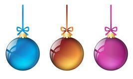 Weihnachtsbälle set2 lizenzfreie abbildung