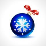 Weihnachtsbälle vector Feier-Weihnachtsschneeflocke des Feiertagshintergrundbandes neue Stockfotografie