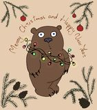 Weihnachtsbär Lizenzfreie Stockfotografie