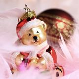 Weihnachtsbär Stockfotografie