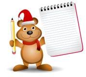 Weihnachtsbären-Notizblock 2 Stockfotos
