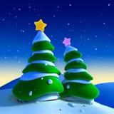 Weihnachtsbäume Lizenzfreie Stockfotos