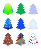 Weihnachtsbäume vektor abbildung