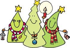 Weihnachtsbäume stock abbildung