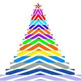 Weihnachtsbäume der Farbe Lizenzfreie Stockbilder