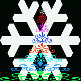 Weihnachtsbäume der Farbe Stockfotografie