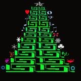 Weihnachtsbäume der Ikone Lizenzfreie Stockfotos