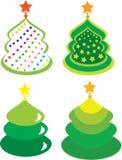 Weihnachtsbäume. Elemente für Auslegung Lizenzfreies Stockfoto