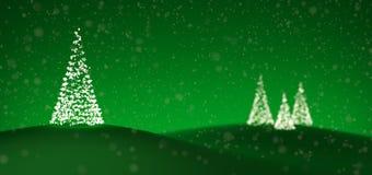 Weihnachtsbäume gebildet von den Leuchten Stockfotos