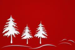Weihnachtsbäume mit Durchschlagspapier-Designhintergrund Lizenzfreie Stockbilder