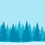 Weihnachtsbäume, niedriges Poly stock abbildung