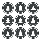 Weihnachtsbäume stellten ein Stockfotos