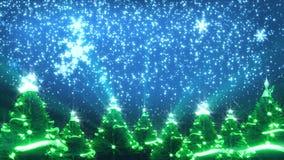 Weihnachtsbäume und Schnee lizenzfreie abbildung