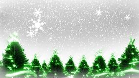 Weihnachtsbäume und Schnee (Animations-Schleife) stock abbildung