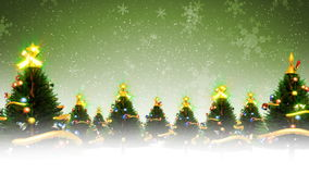 Weihnachtsbäume und Schnee (Animations-Schleife) lizenzfreie abbildung