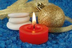 Weihnachtsbadekurort stockfoto