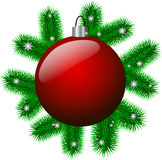Weihnachtsball Lizenzfreie Stockbilder