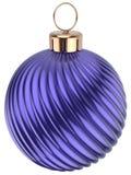 Weihnachtsball blaues Purpur der Sylvesterabend-Flitterdekoration Lizenzfreie Stockfotografie