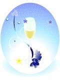 Weihnachtsball mit Wein Lizenzfreies Stockbild