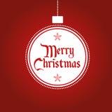 Weihnachtsball verziert Vektorhintergrund mit Schneeflocken Stockfotografie