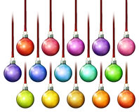 Weihnachtsball-Verzierungen Lizenzfreies Stockfoto