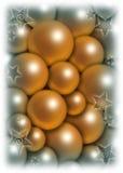 Weihnachtsballhintergrund Stockfoto
