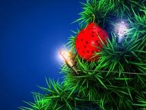 Weihnachtsballhintergrund Lizenzfreie Stockbilder