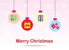 Weihnachtsballkarte lizenzfreies stockfoto