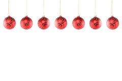 Weihnachtsballlinie Stockfoto