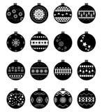 Weihnachtsballsatz Stockfotografie