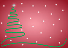 Weihnachtsband-Baum mit Schnee Lizenzfreie Stockfotografie