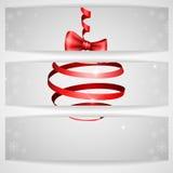 Weihnachtsband-Bogen. Lizenzfreies Stockbild