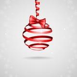 Weihnachtsband-Bogen. Stockfotografie