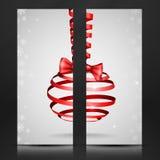 Weihnachtsband-Bogen. Stockfotos