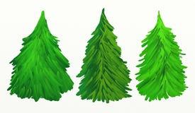 Weihnachtsbaum-Ölgemälde lizenzfreie abbildung