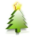 Weihnachtsbaum in 3D Lizenzfreies Stockbild