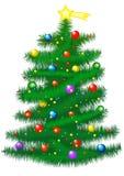 Weihnachtsbaum-Abbildung Lizenzfreies Stockfoto